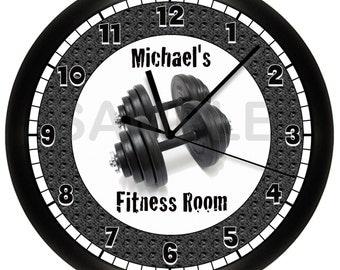 Dumbbell Fitness WALL CLOCK