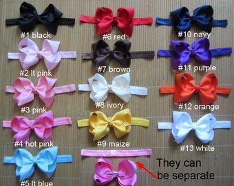 Pick 13 baby headband - bow headband - girl headband - infant headband - headband bow, girl baby, can clip hair bows alone on her hair