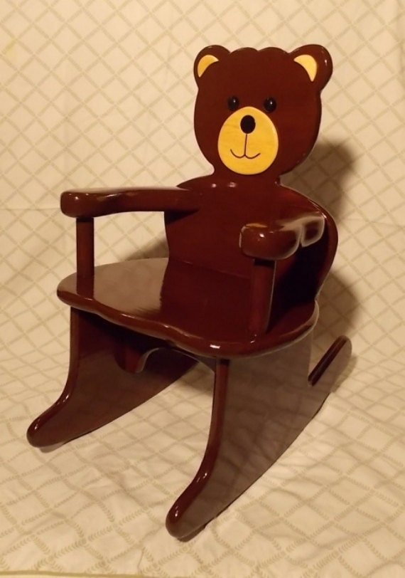 Teddy Bear Rocking Chair by andrewsrockinghorse on Etsy