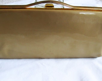 Gold 60s Clutch, Vinyl Purse