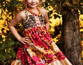 2T Heirloom Floral Knot Dress. Ready to Ship
