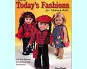 Sew Today's Fashions For 18-Inch Dolls - Sewing Pattern Book by Joan Hines - New - 22.99