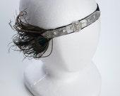 peacock flapper headband, great gastby headband, Art Deco 1920's headband, fashion headband