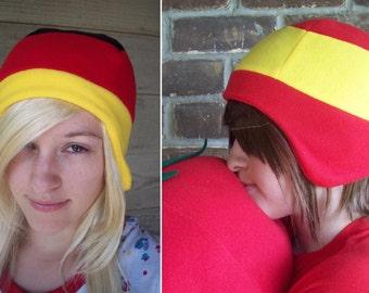 Germany or Spain Flag Hat - Fleece Hat Adult, Teen, Kid - A winter, nerdy, geekery gift!