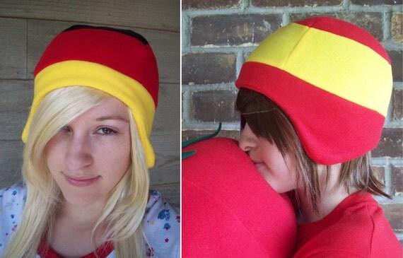 Germany or Spain Flag Hat - Fleece Hat Adult, Teen, Kid - A winter, Christmas, nerdy, geekery gift!