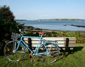 Portland Maine waterfront Bike at Casco Bay 5 x 7 color photograph print