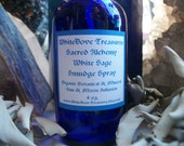 WHITE SAGE SMUDGE Spray 4oz - 2oz Organic Herbal Essential Oils Crystal Infusion Clear Negativity Aura Healing Room Altar Tools Angel Reiki