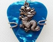 Blue Dragon Guitar Pick Pendant