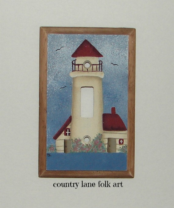 Hand Painted Light Switch Cover Switch Plate Coverwooden
