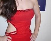 80s Bond Girl SEXYJessica Rabbit Nom De Plume rhinestone embellished Evening Maxi dress Size Medium by KitKatCabaret on Etsy