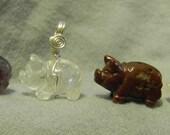 Gemstone Pig Necklace