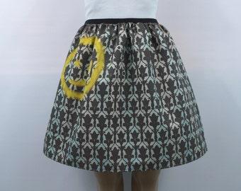 """Sherlock """"Bored"""" full skirt- made to order"""