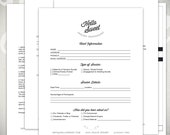Photography Forms - 5 Essential Contracts and Order Form Templates - Hello Sweet Studio Collection