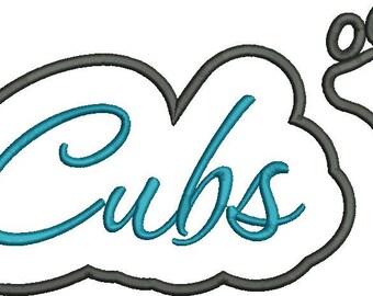 Cubs Applique Script