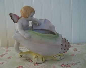 Vintage Sea Nymph Shell Planter