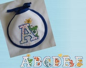 Care Bears Letter of Your Choice Machine Stitched Bib