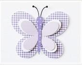 Butterfly Decor Kids Wall Decor Matted Art for Children Nursery Decor Purple Lavender Butterfly