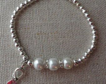 083 Lung & Mesothelioma Cancer Awareness Bracelet