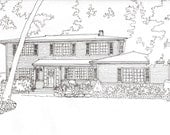 Custom House Portrait, Pen and Ink Drawing, architectural rendering