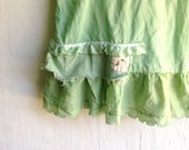 RESERVED  AMY  green rustic  BIRTHDAY party country flower vintage lace dress