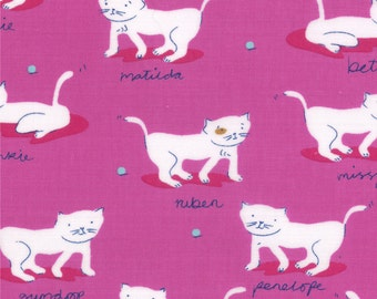 Hello Petal by Aneela Hoey for Moda - Kitty Cats in Sweetie