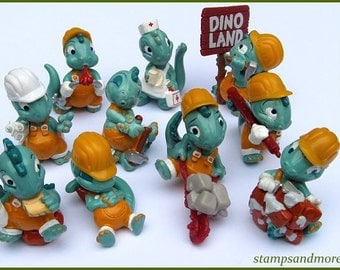 Complete Dino Set From 1995 Kinder Surprise Figurines
