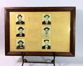 1900s Folsom prison inmate mug shots photo guide for guards identification in frame original
