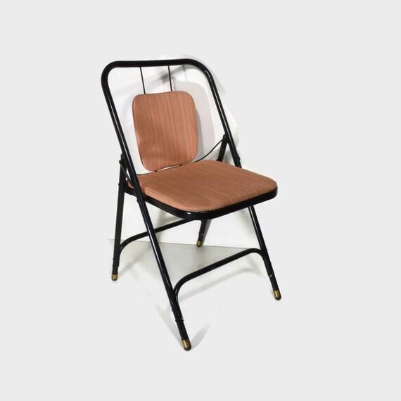 Mid Century chair metal folding chair