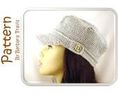 Crochet Pattern Pinwheel Newsboy Cap H1009 Engineer Hat