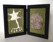 Neurological Study in Wool - Green Background