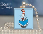 The Cat In The Hat #6 (Dr. Seuss)Pendant from Scrabble® tiles. Scrabble® necklace. Scrabble® tile pendant. Gift Present