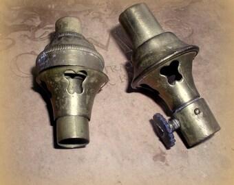 Vintage Miniature Oil Lamp Parts Brass Salvage Lamp Making Supplies