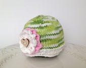 Knitted hat, baby beanie, cotton baby hat, infant hat - TinyLoveGifts