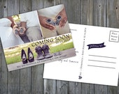 INSTANT DOWNLOAD : Maternity Announcement, Pregnancy Announcement, Postcard, Fully Layered PS Templates