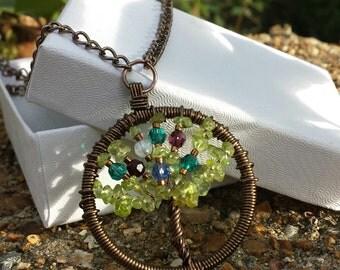 Custom Family Tree Necklace - Bronze
