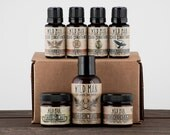 Mens Beard Grooming Gift Set - WILD MAN Luxury Beard Care Sampler