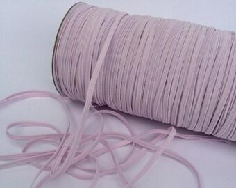 "Baby Pink 1/8"" Skinny Elastic Icy Pink #108 skinny Fold Over Elastic - FOE 1/8"" inch Baby Headbands - 5 yards Skinny Elastic 4mm"