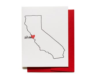Left my heart in San Francisco - Letterpress Greeting Card