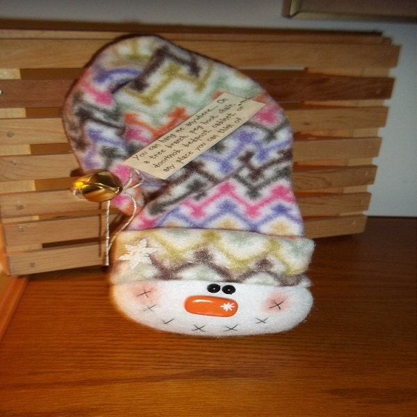 FLEECE-Hang Around Snowman-Multi