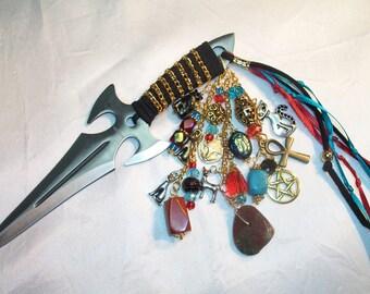 Bastet, Bast Embellished Athame - Several Blade Styles/Sizes - Egypt, Egyptian - Red Jasper, Agate