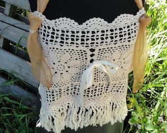 Gypsy boho bohemian lace halter, hippie boho, gypsy boho, vintage lace