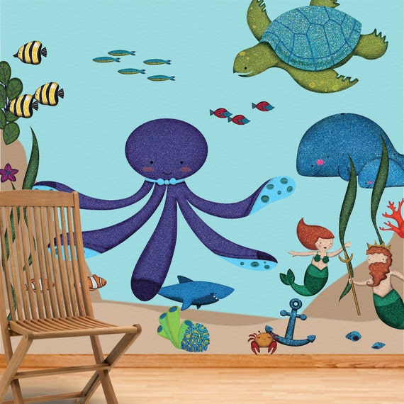 ocean wall stickers decals for under the sea by mywallstickers. Black Bedroom Furniture Sets. Home Design Ideas