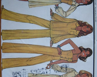 McCall's Pattern 5452 Misses' Dress or Top, Vest and Pants    1977     Uncut