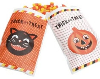 Retro Halloween Trick or Treat Favor Bags