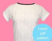 Easy Womens T Shirt Pattern - PDF Download - Fashion - Multi Size