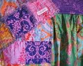 "crib set CUSTOM - 8 piece Crib Bedding - quilt, 2 sheets, 2 pillowcases, bed skirt, 10"" x 20"" pillow sham, 20"" x 20"" pillow sham"