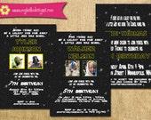 Printable Star Wars Inspired Invitation - Jedi Invite DIY - boy girl jedi knight galaxy photo invitation party card printable birthday