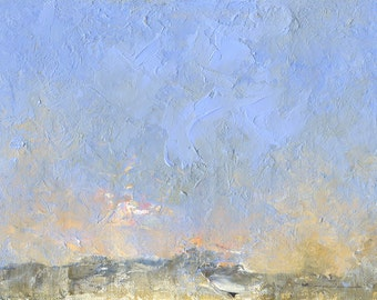 Shore Dawn — Original Oil Painting Landscape Painting by John W. Shanabrook, 5 x 7 (Reserved)