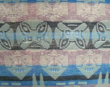 Tribal Blanket Early Century Native Camp Trade Blanket Intricate Patterning Stylized Animal Motifs