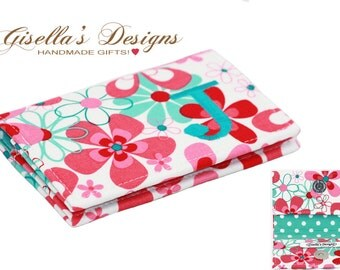 Personalized Floral Business card holder, Custom made Business card holder, Graduation Gift